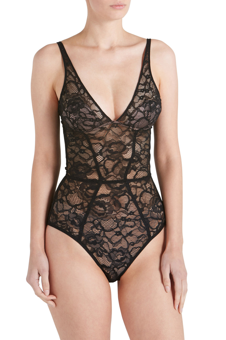 CHAT NOIR PLUNGE BDYSUIT