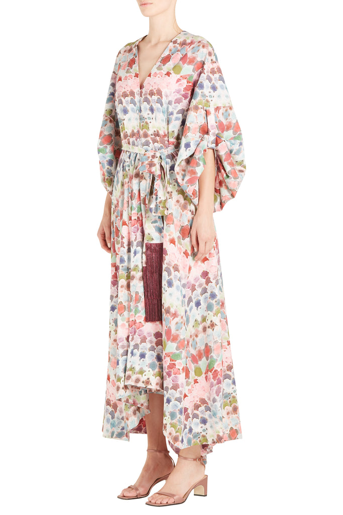 DEETA PRINTED CREPE DRESS