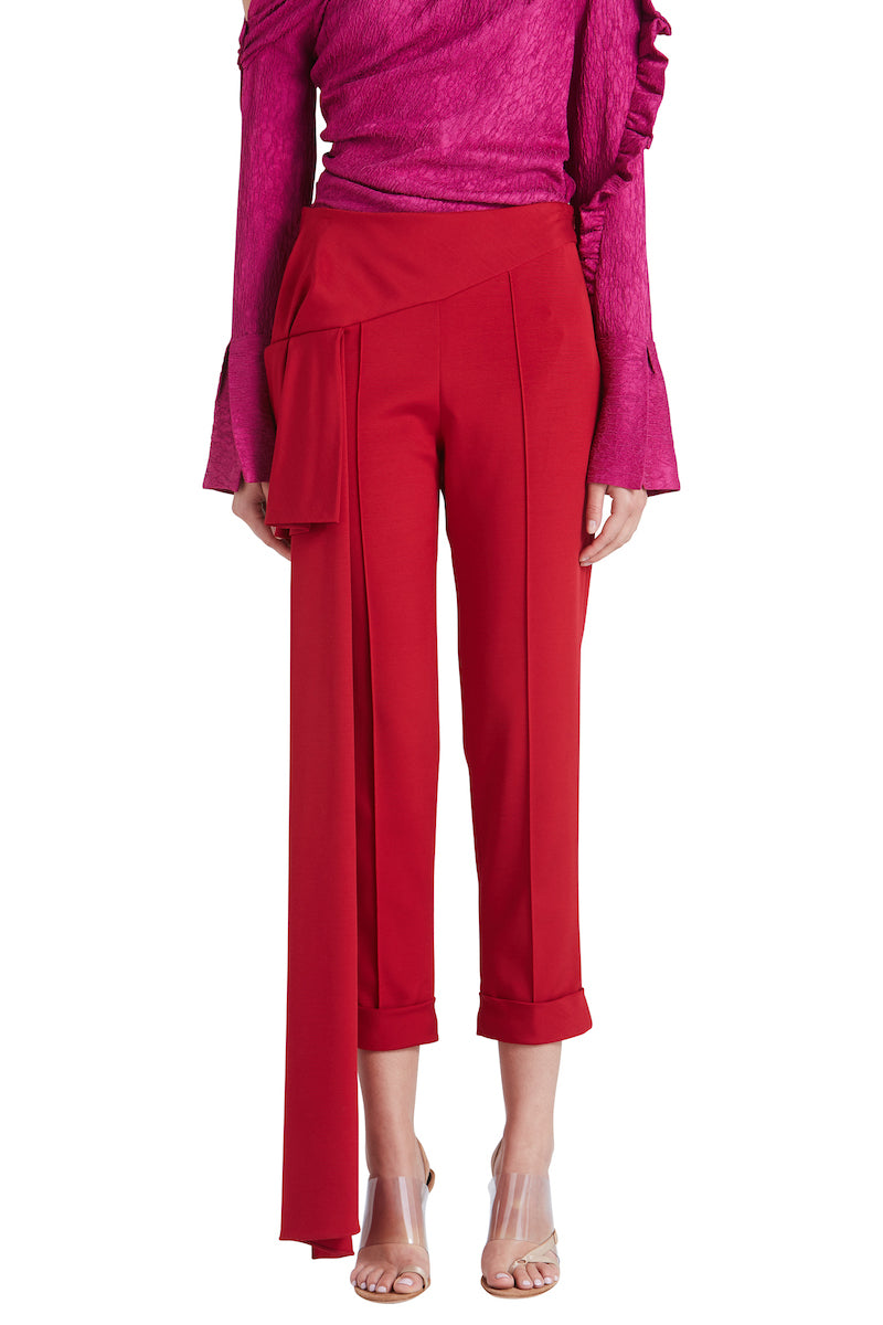 ROMEO CIAGRETTE PANT WITH SIDE DRAPE