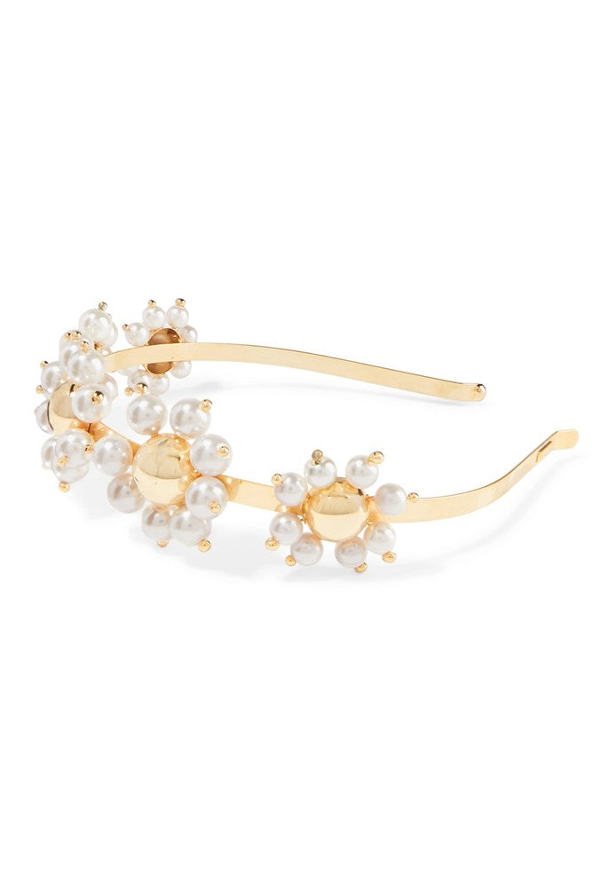 Rosantica Daisy Headband in Gold White from The New Trend