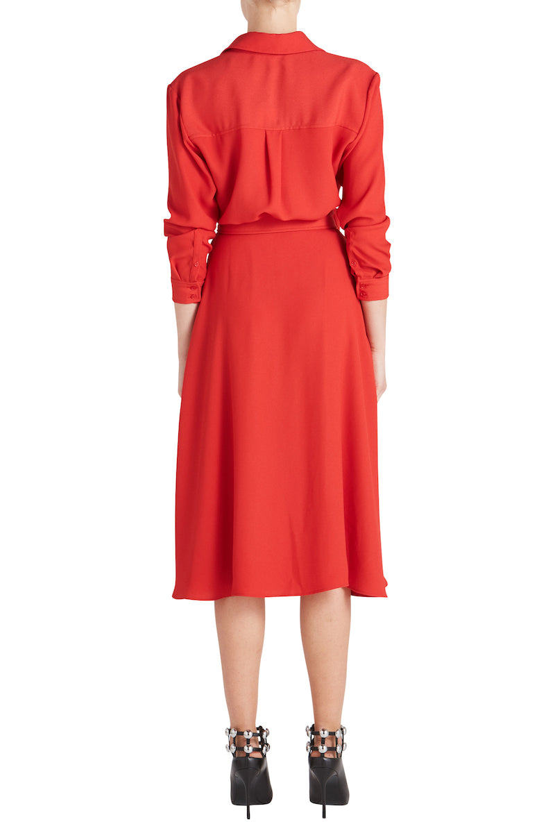 CARY SHIRT MIDI DRESS