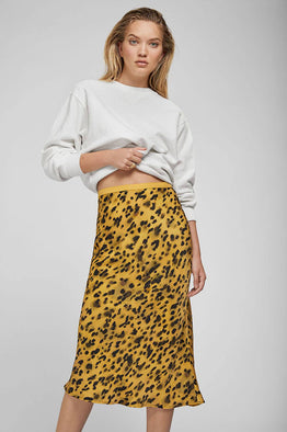 Anine Bing Bar Silk Skirt Golden Leo from The New Trend Front