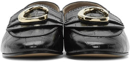 Chloe C Loafer in Black Croc from The New Trend