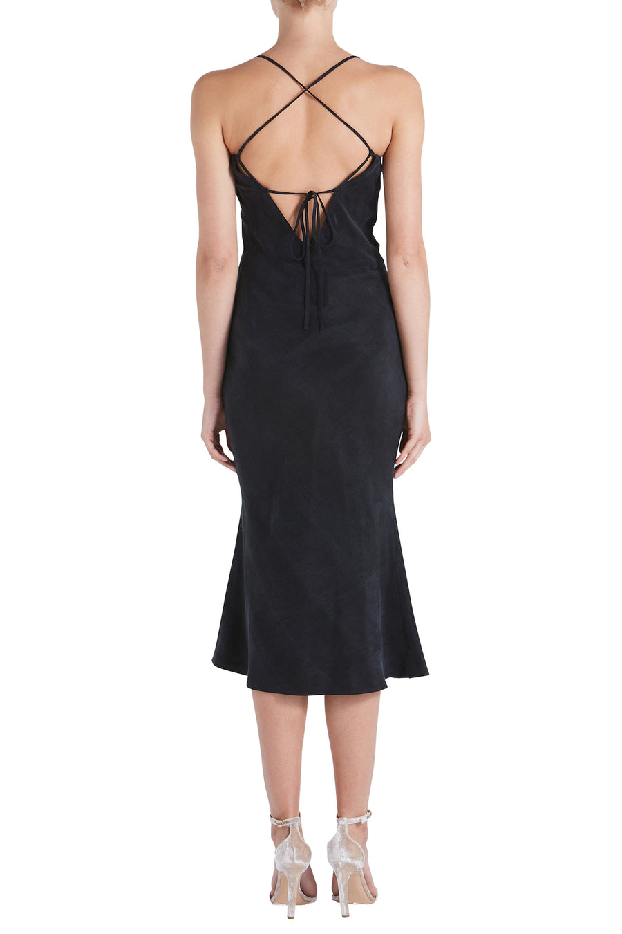 TIE BACK BIAS SLIP DRESS
