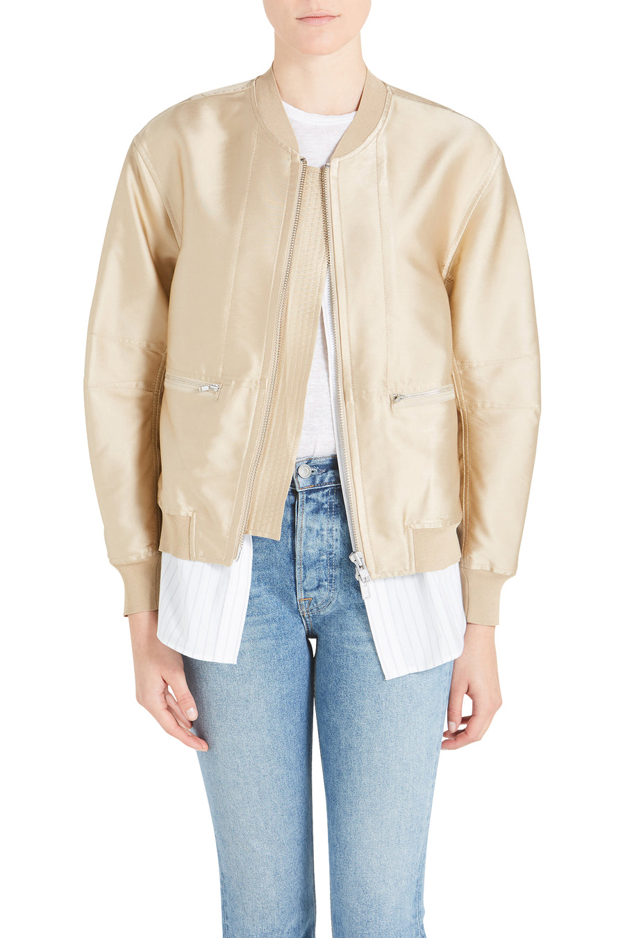 3.1 Phillip Lim Bomber Jacket With Underlay from The New Trend
