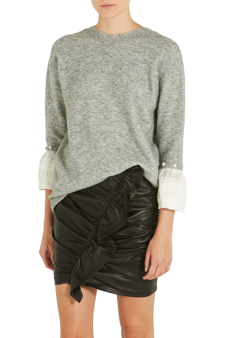3.1 Phillip Lim Lofty V Neck Sweater in Grey from The New Trend