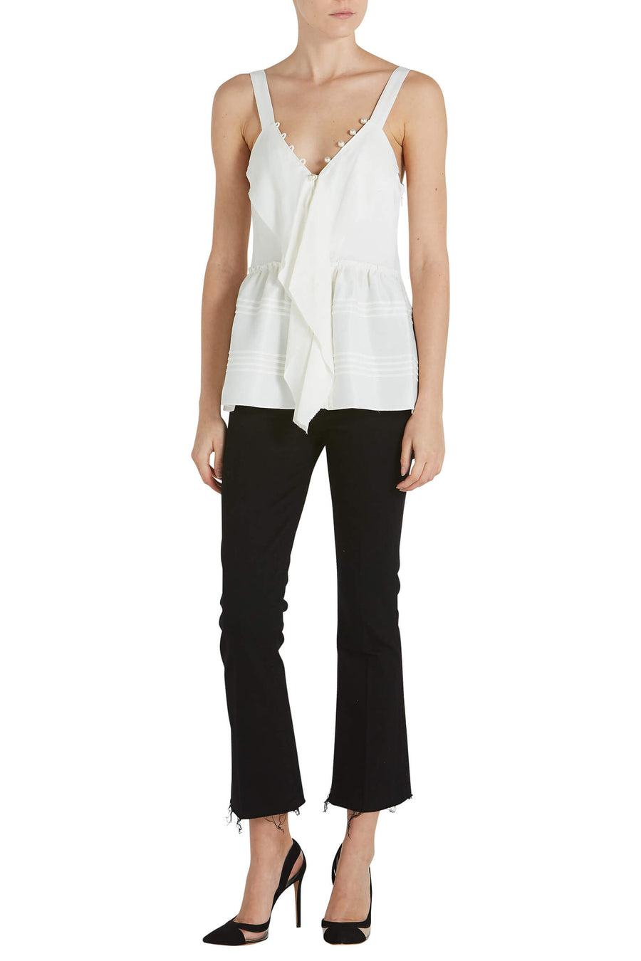 3.1 Phillip Lim Satin Cami With Pearls from The New Trend