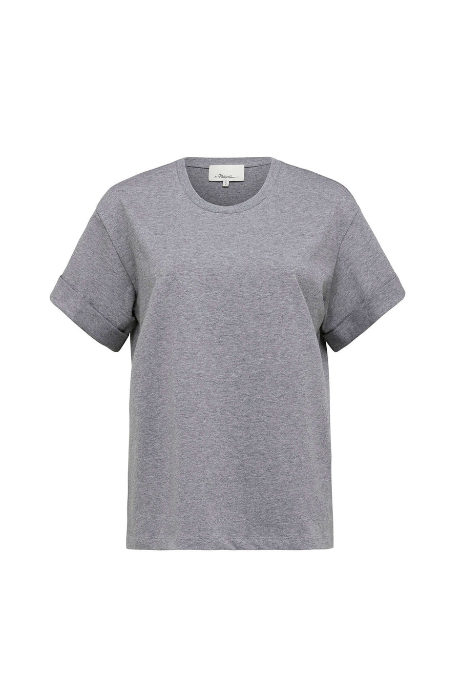 3.1 Phillip Lim Short Sleeve T-Shirt with Sleeve Tab in Grey Melange from The New Trend