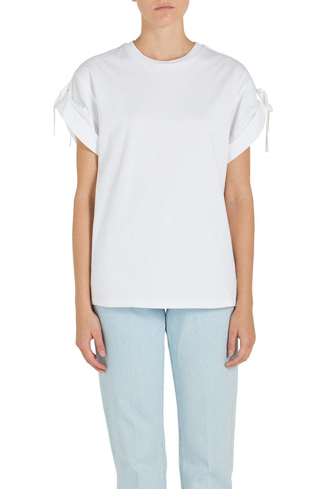 3.1 Phillip Lim Short Sleeve T-shirt with Sleeve Ties The New Trend