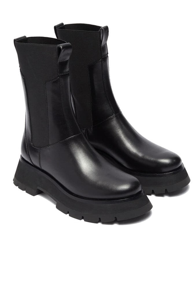 3.1 Phillip Lim Kate Lug Sole Combat Boot in Black from The New Trend