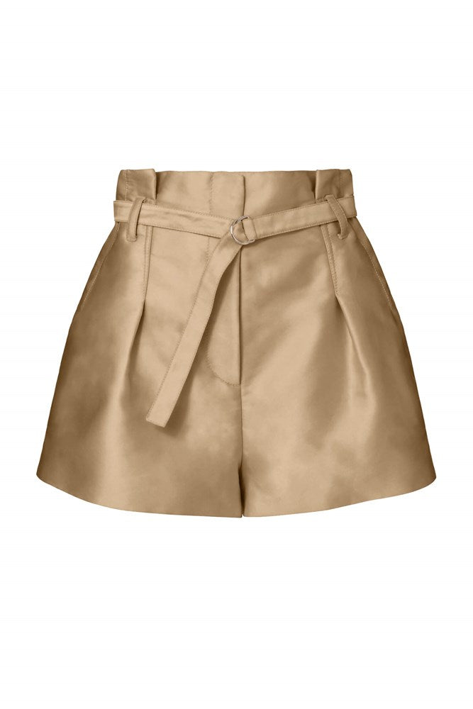 3.1 Phillip Lim Satin Origami Shorts in Nude from The New Trend
