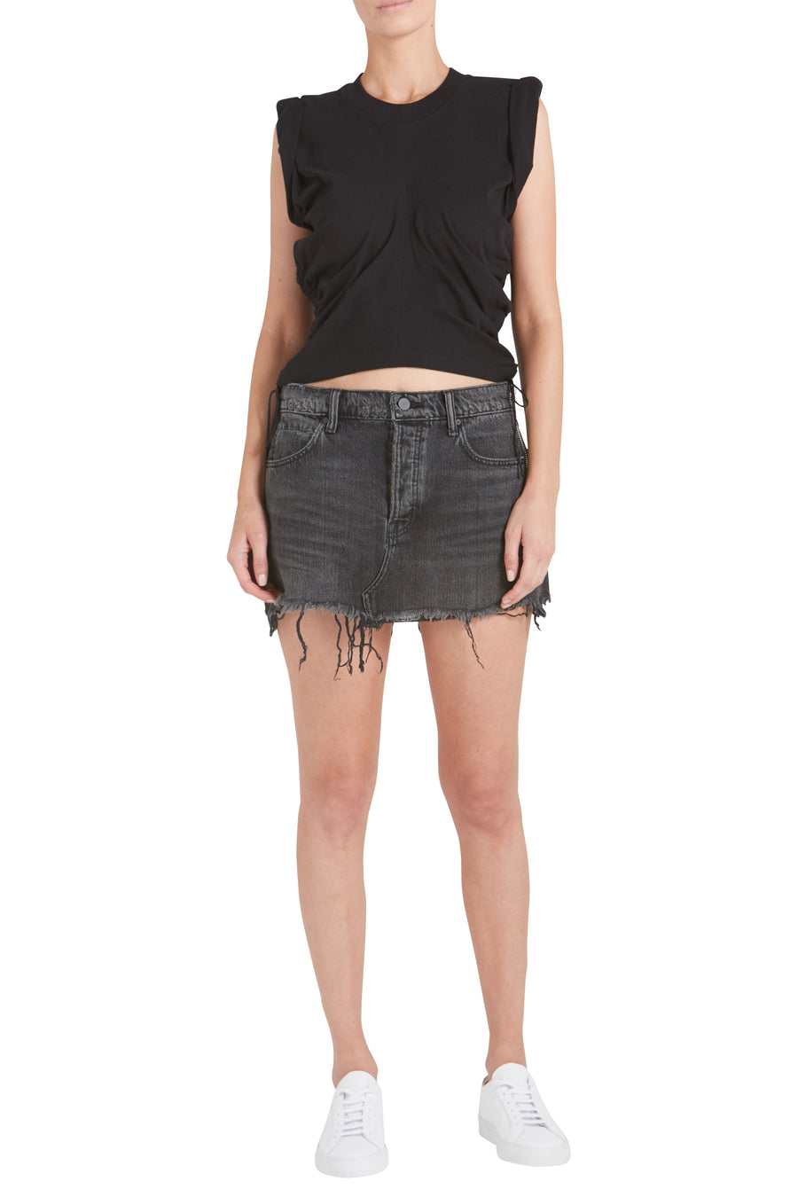 HIGH TWIST JERSEY CROP TOP WITH SIDE TIES