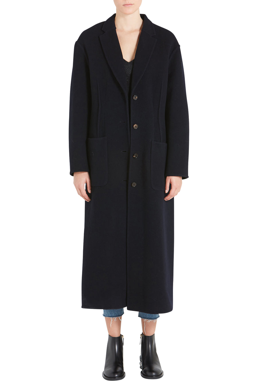 DOUBLE FACED TAILORED COAT