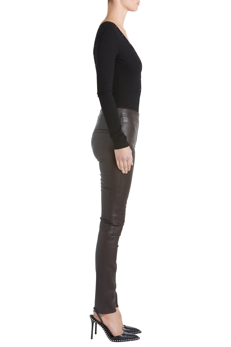 STRETCH LTHER LEGGING