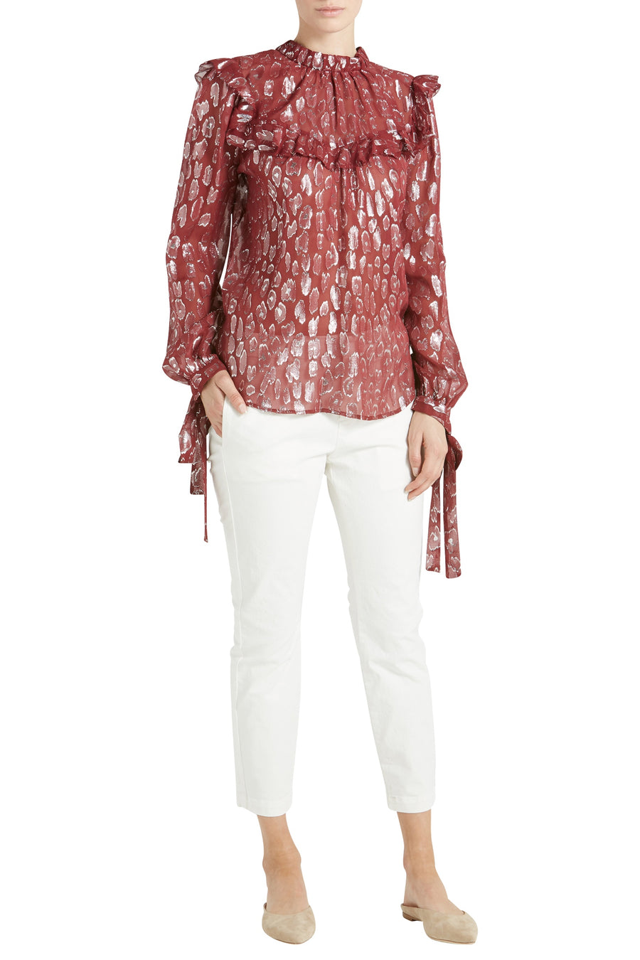 BROOKS RUFFLE BLOUSE