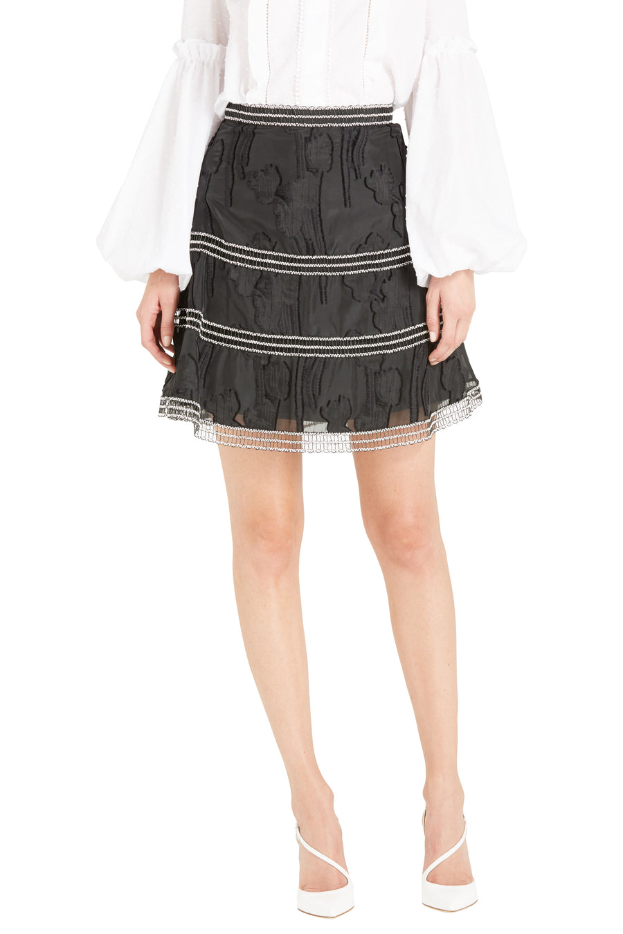 KAMRYN BURNOUT SKIRT