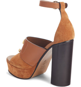 Chloe C Platform Heels in Ochre from The New Trend Back View