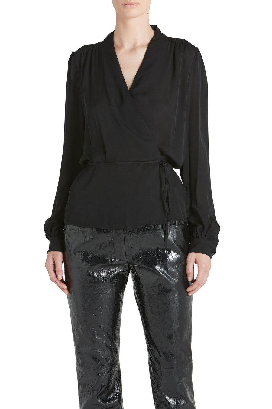 CARA WRAP BLOUSE