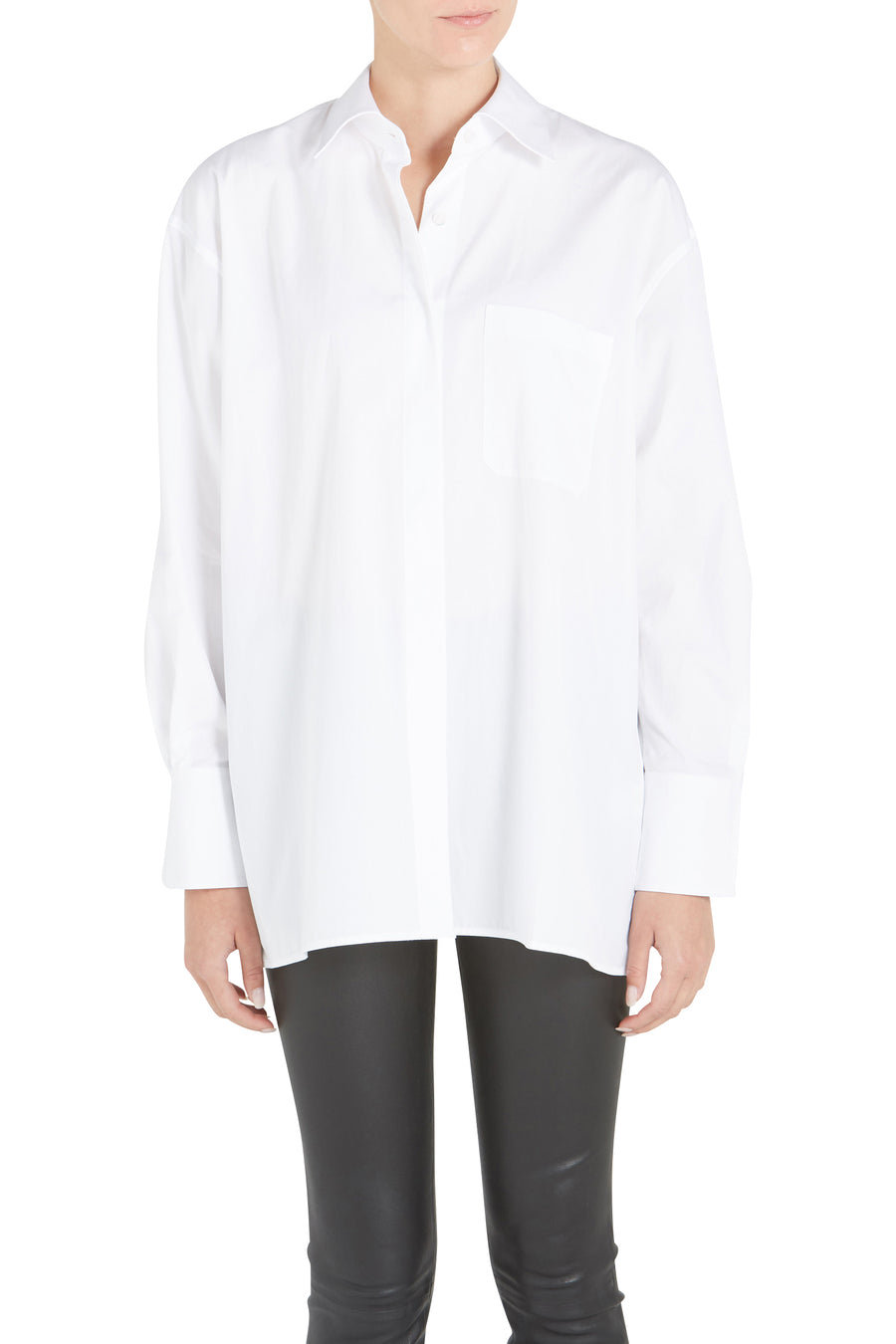 OPEN PLACKET OVERSIZED SHIRT