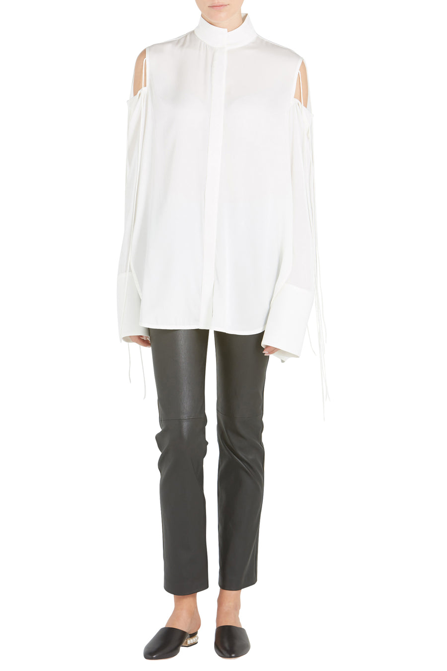 INVADER TIE SHOULDER BLOUSE