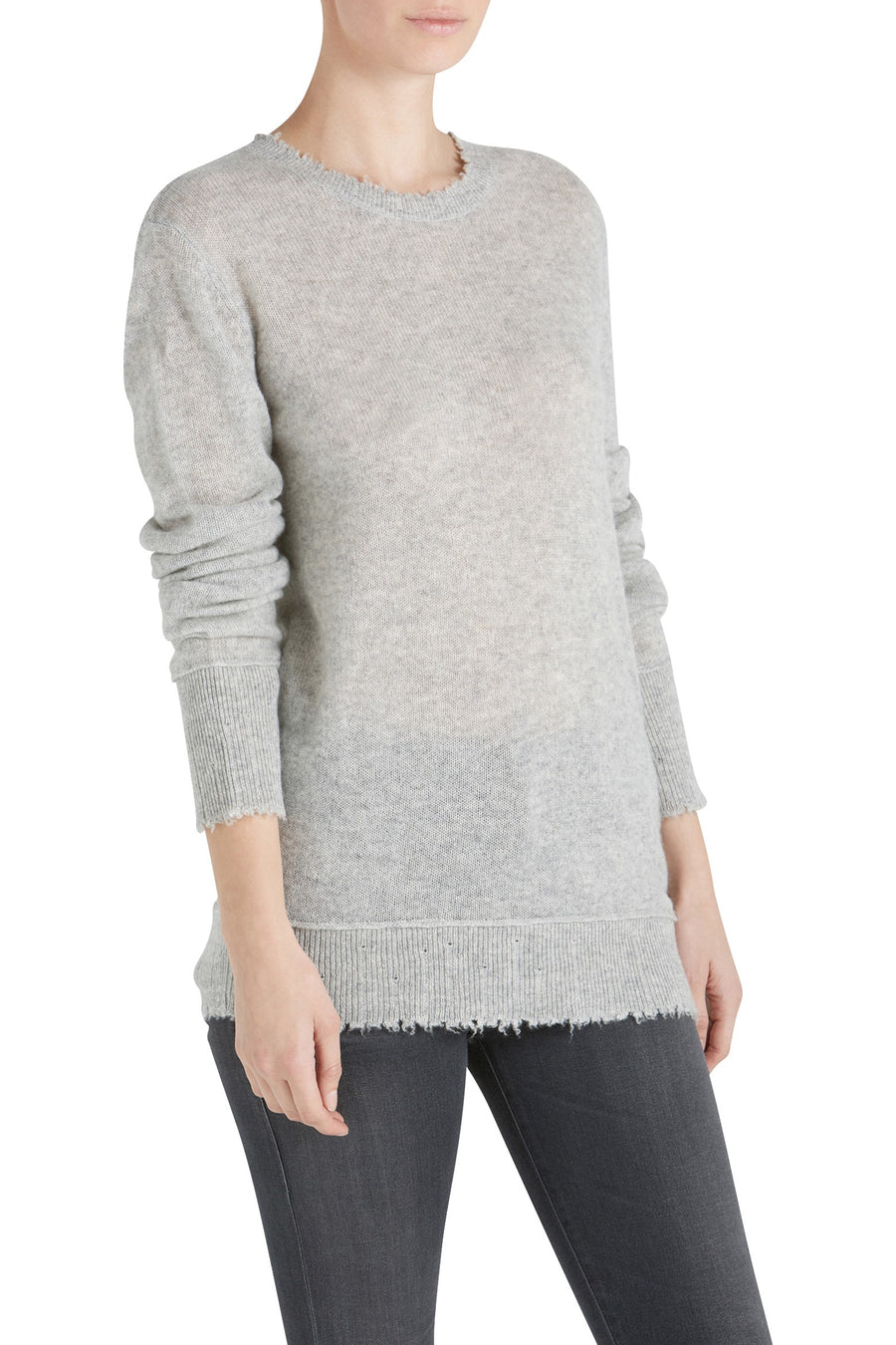DISTRESSED EDGE SWEATER