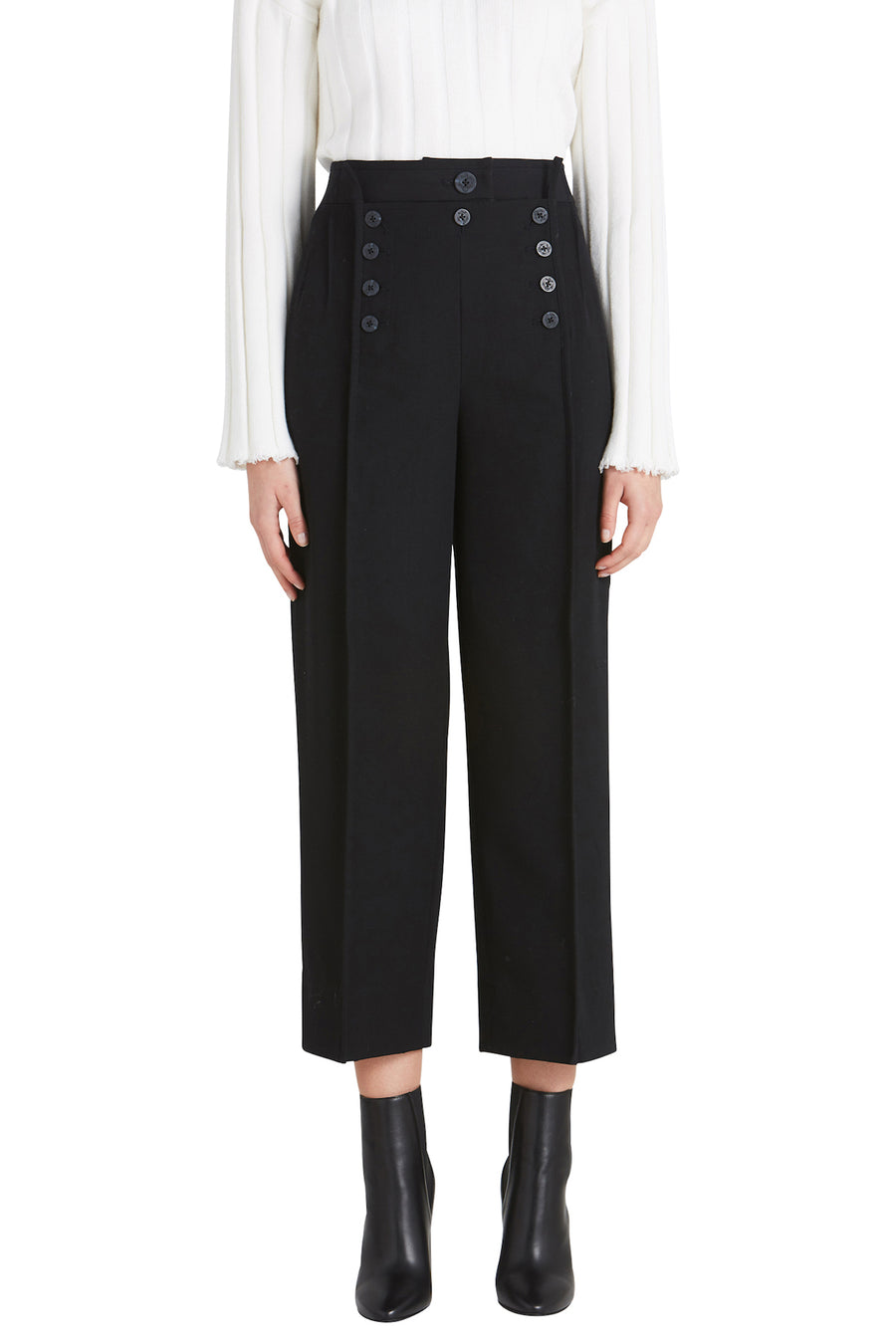 STRAIGHT LEG WOOL TROUSER