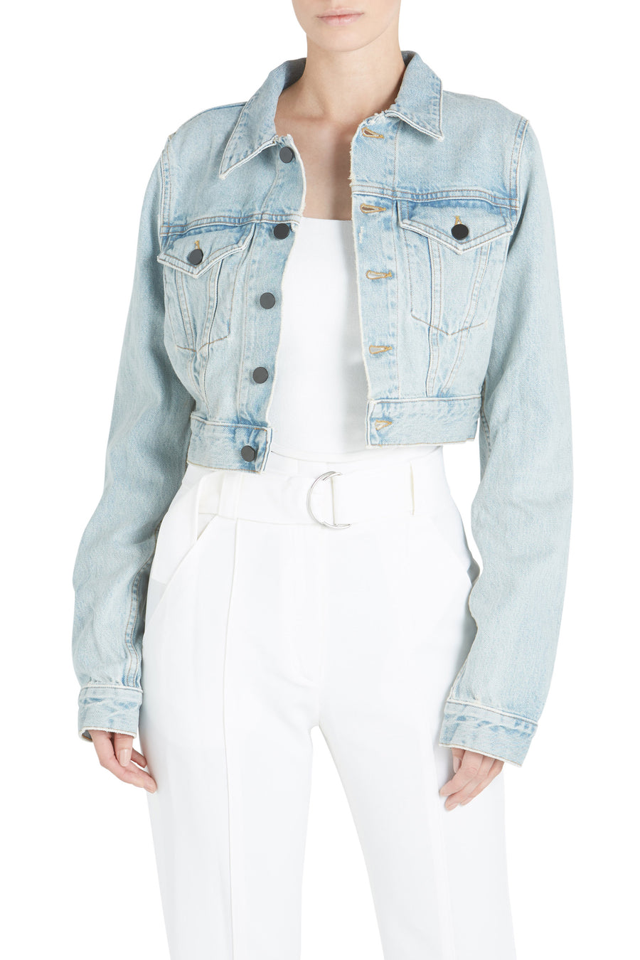 BARE CROPPED JACKET BLEACH