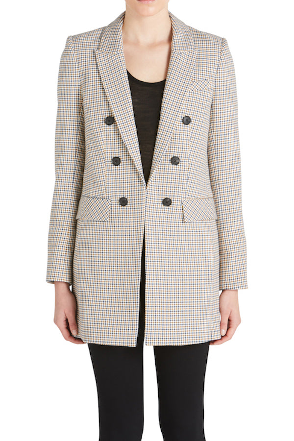 LISS LONG CHECK DICKEY JACKET
