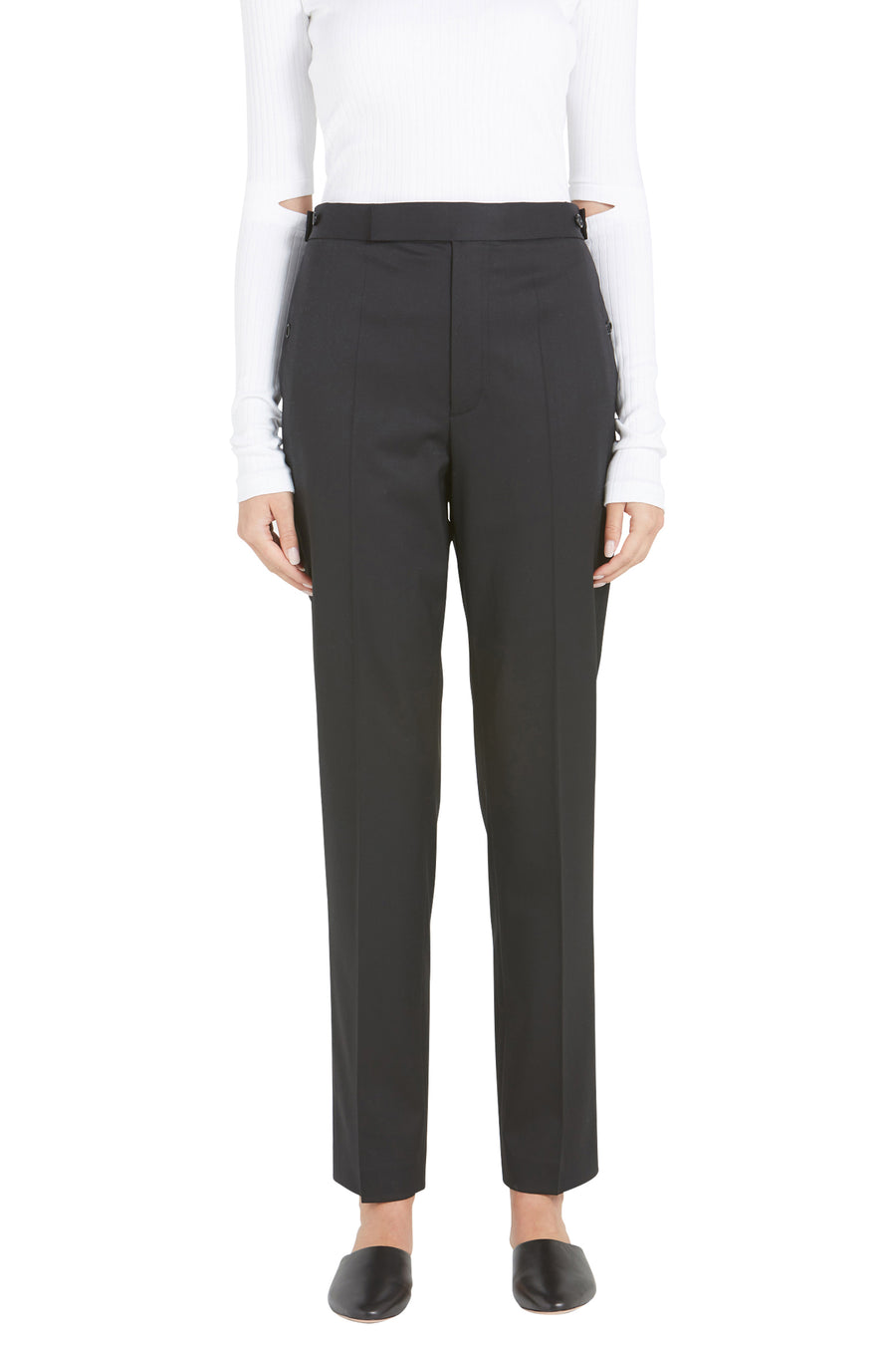STRAIGHT LEG STRETCH WOOL PANT