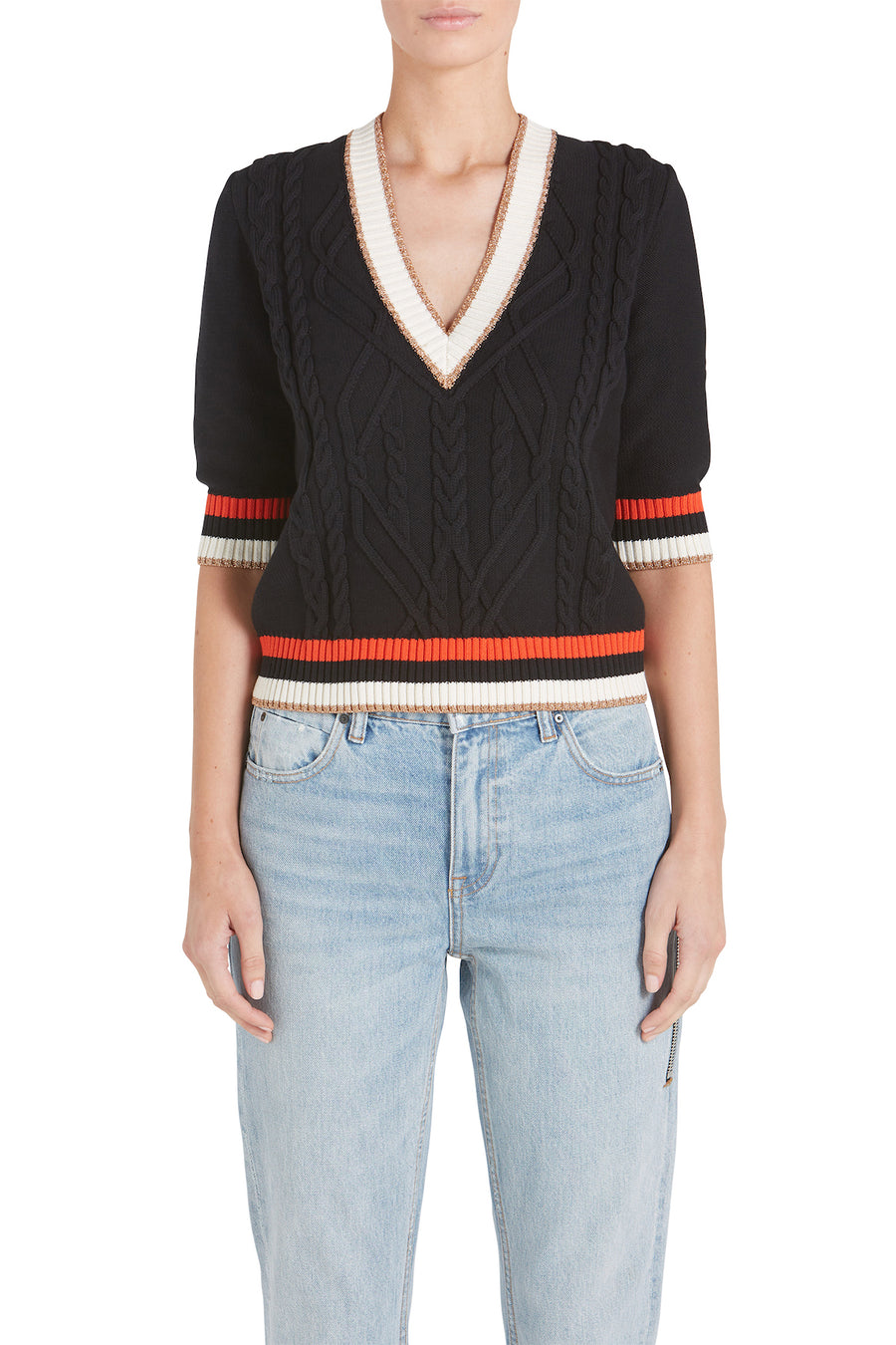 ARIA VNECK KNIT SWEATER