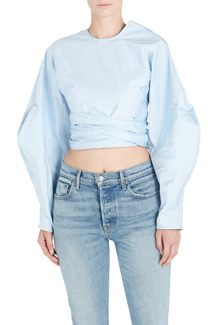 LASSO CROP WRAPPED TOP