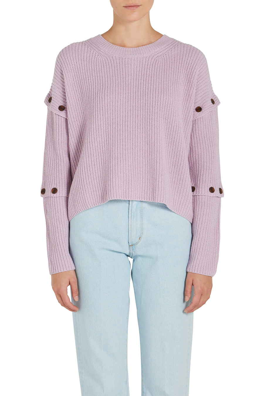 A.L.C.Adams Button Sleeve Sweater at The New Trend