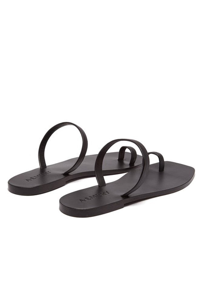 A.Emery Kin Sandal Black Leather from The New Trend