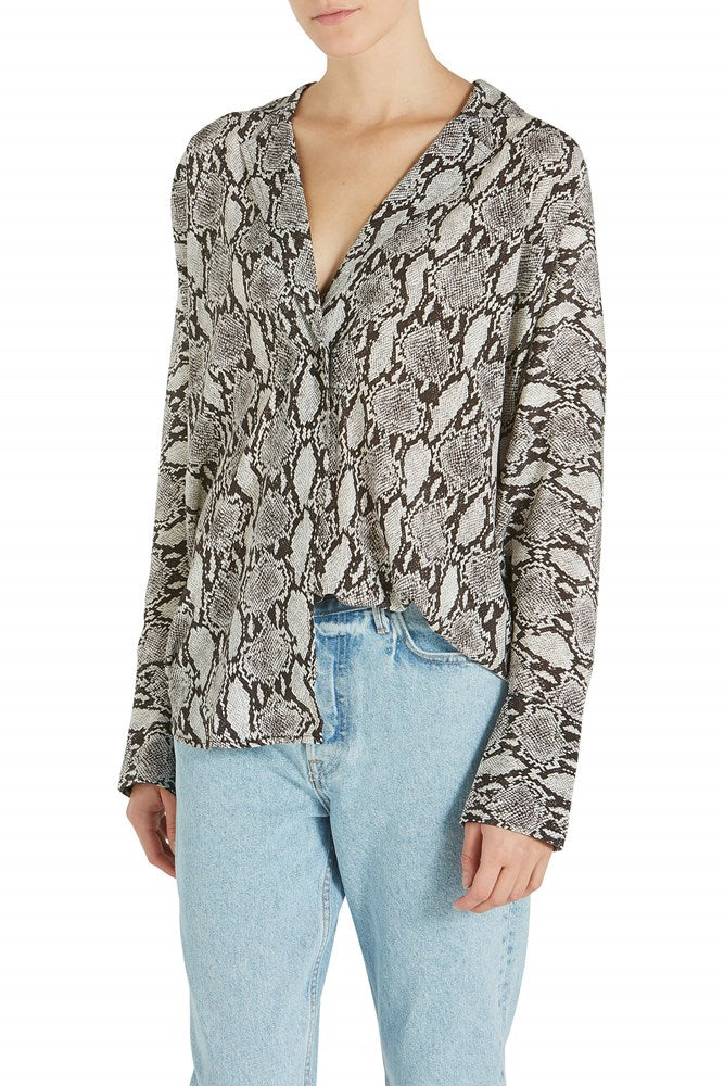 A.L.C. Noreen Snake Print Top from The New Trend front