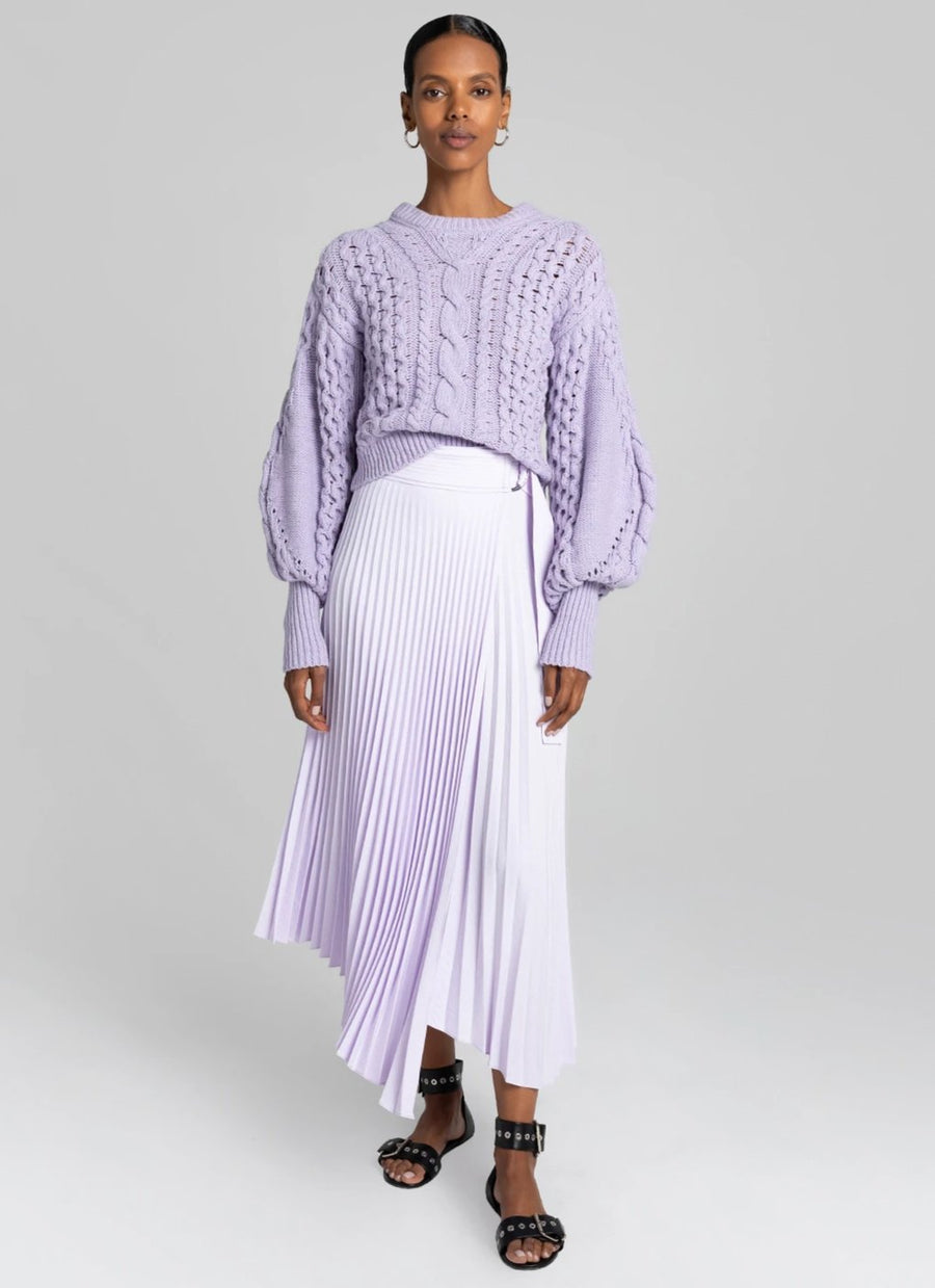 A.L.C Serene Knit Long Sleeve Sweater in lilac from The New Trend