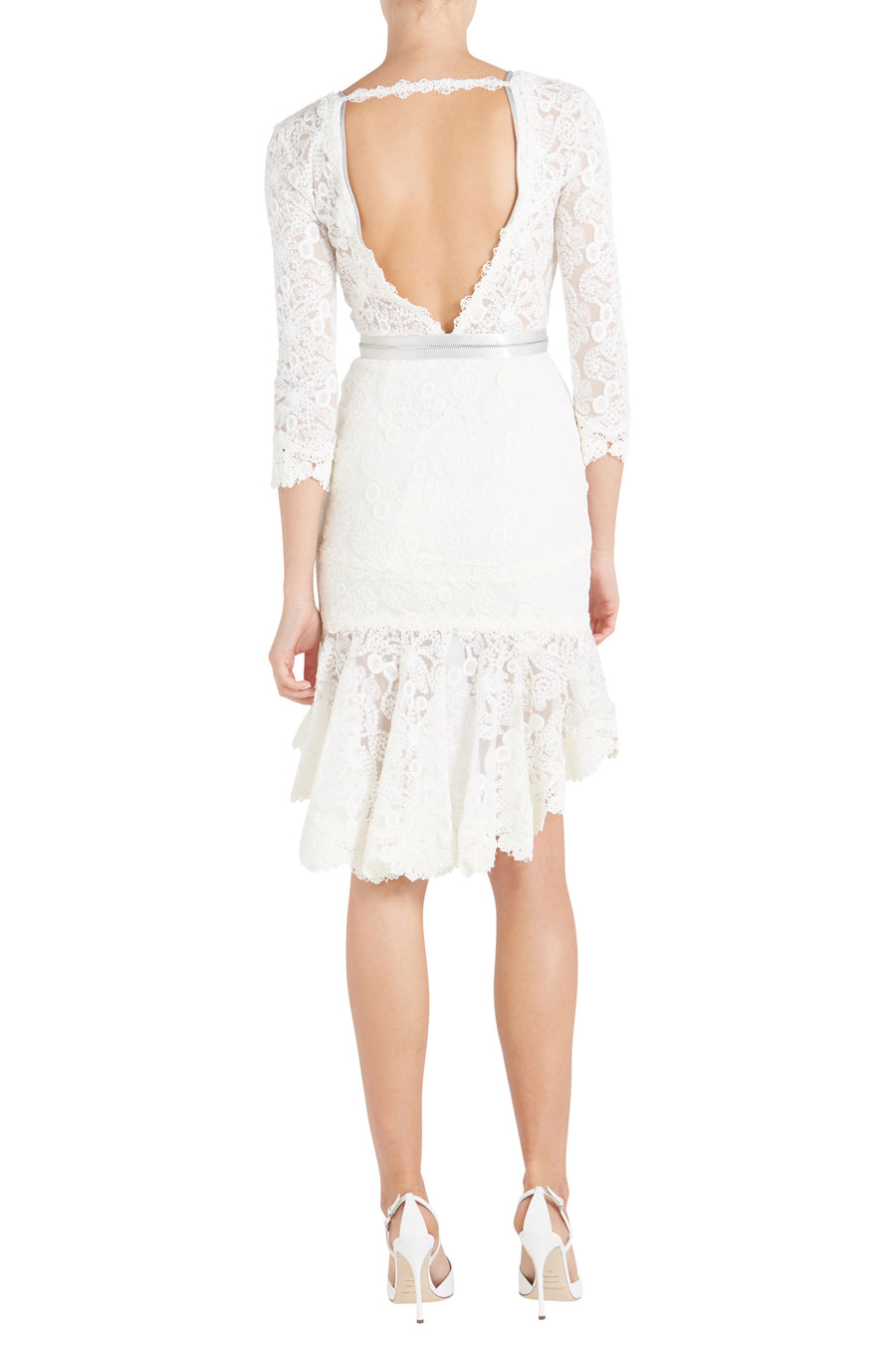PARISA LACE DRESS W/ ZIPPER DETAIL