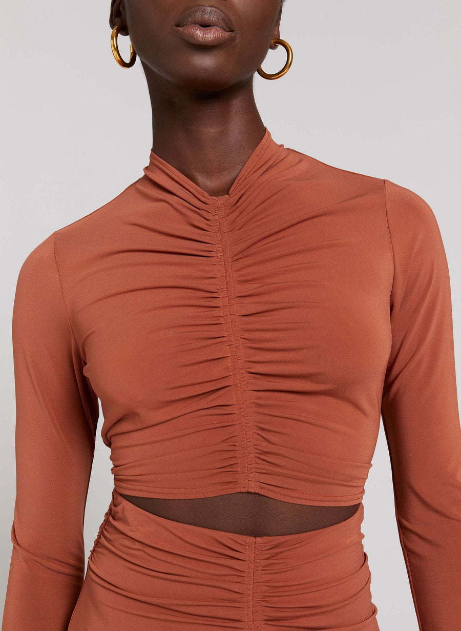 A.L.C Anne Top in Deep Amber from The New Trend