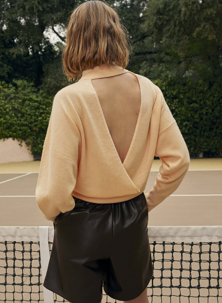 A.L.C Chiara Sweater in Apricot from The New Trend