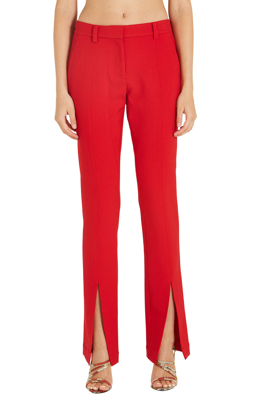 A.L.C. Conway Pants in Red from The New Trend Front Crop