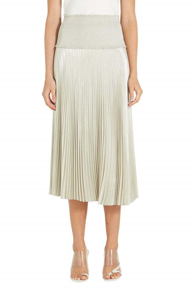 A.L.C Hedrin Pleated Skirt in silver from The New Trend