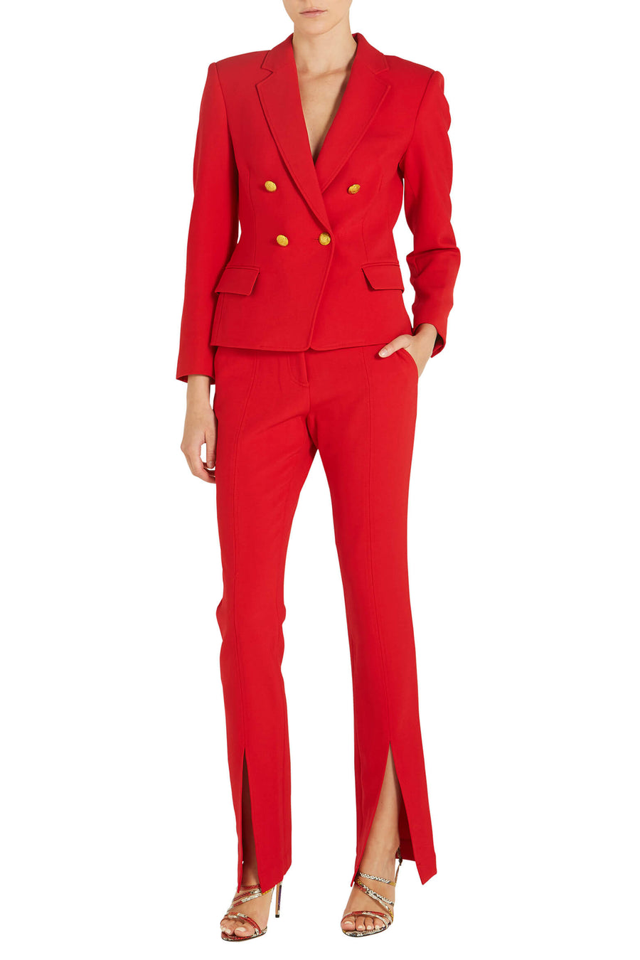 A.L.C Hendrick Blazer in red from The New Trend