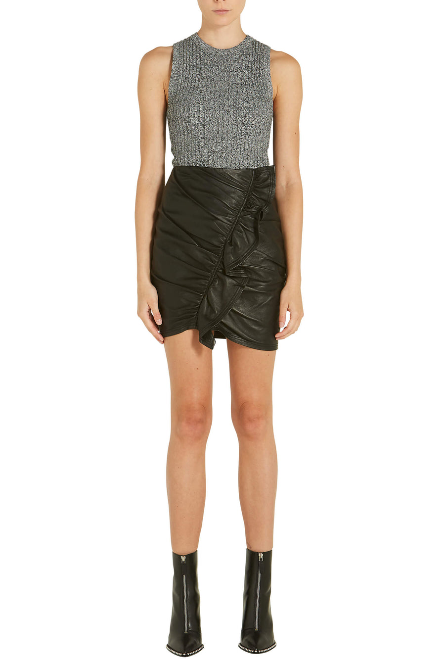 A.L.C Jupiter Leather Mini Skirt from The New Trend