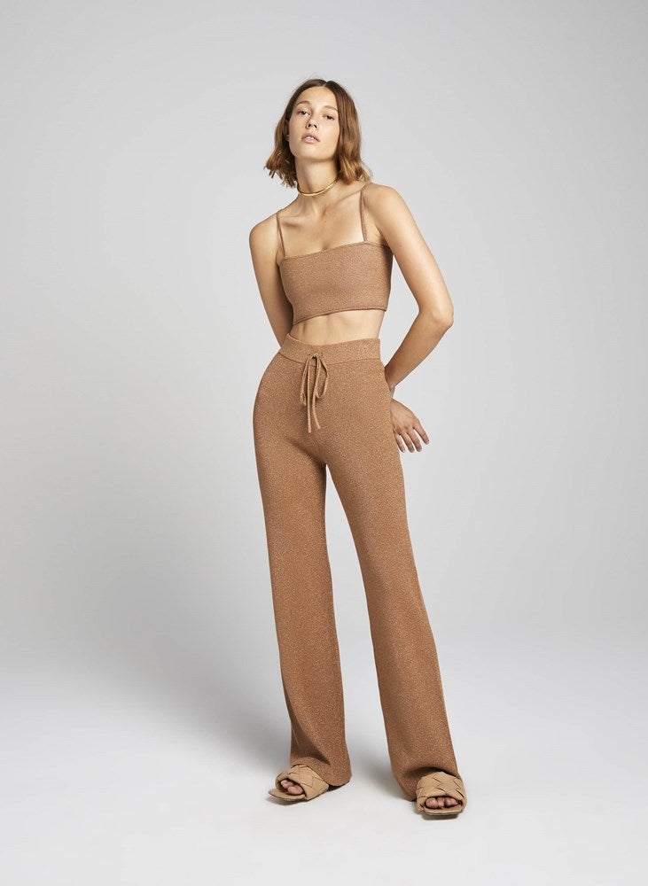 ALC Quentin Pant in Toffee Rose Gold from The New Trend