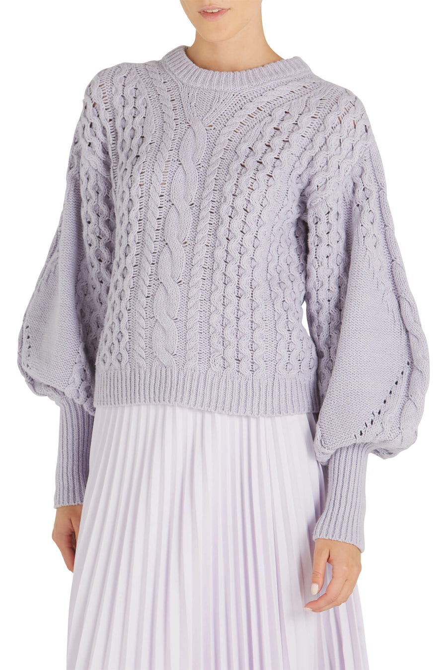 A.L.C Serena Knit Long Sleeve Sweater in Chuckoo from The New Trend