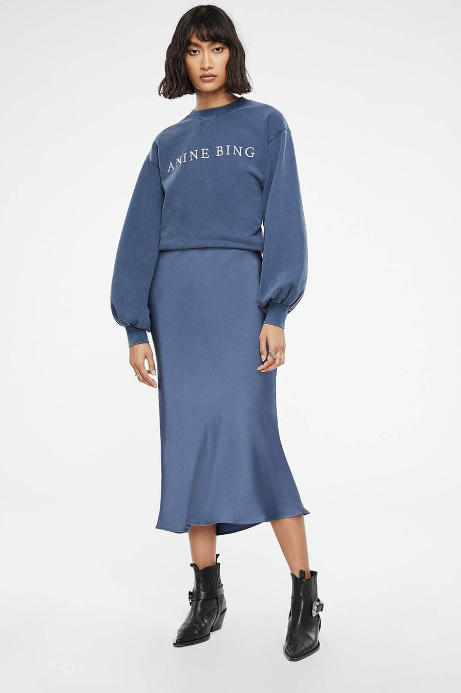 Anine Bing Bar Silk Skirt from The New Trend