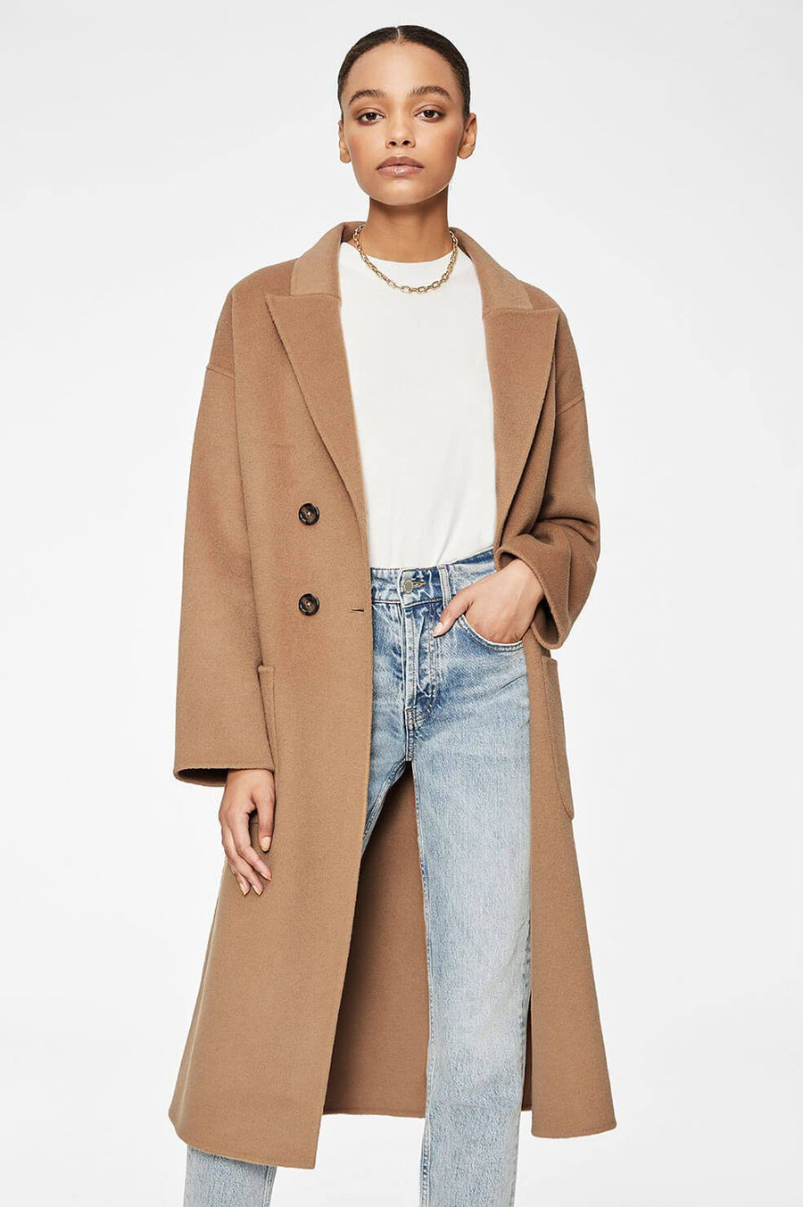 Anine Bing Dylan Camel Coat at The New Trend