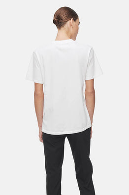 Anine Bing Hudson Monogram Tee in Optic White from The New Trend