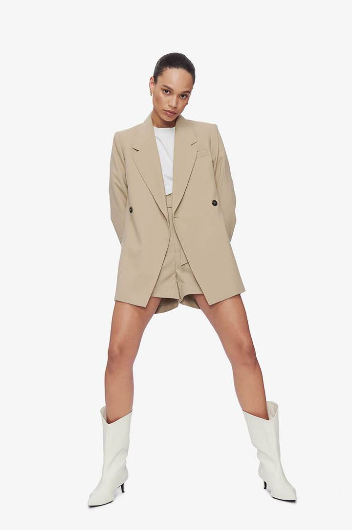 Anine Bing Kaia Blazer in Sand from The New Trend