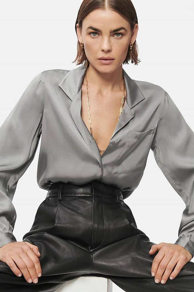 Anine Bing Lilah Shirt Silver from The New Trend