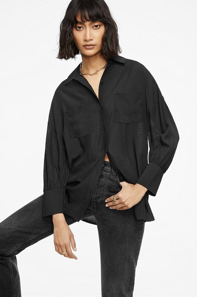Anine Bing Monica Blouse Black from The New Trend